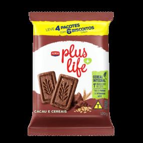Adria Plus Life - Biscoito Integral Cacau e Cereal