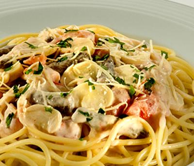 Espaguete ao Molho de Strogonoff  Adria