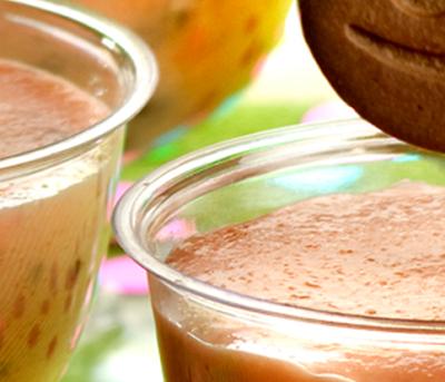 Geladinho de Iogurte com Biscoito Adria