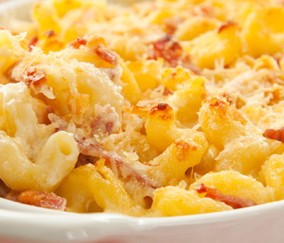Mac and Cheese Simplificado com Salame