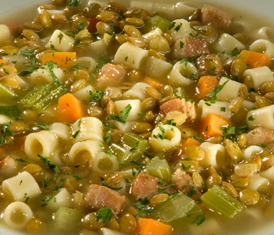 Sopa de Lentilha com Gengibre