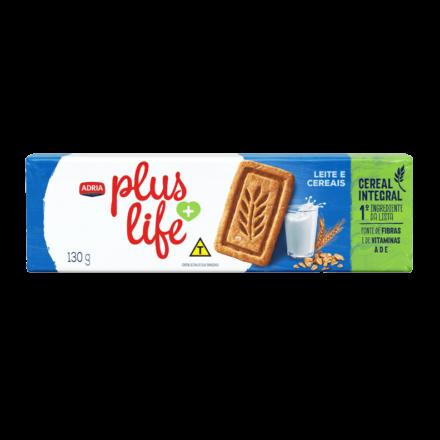 Adria Plus Life - Biscoito integral sabor leite